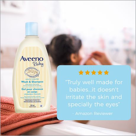 Aveeno Baby Gel pour cheveux et corps, Sans larmes, sans savon, sans parabènes, 532 ml - image 7 de 8