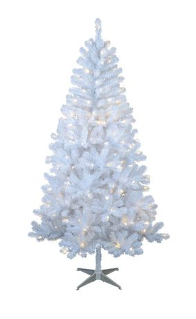Holiday time White Pre-Lit Sonoma Pine Tree | Walmart Canada