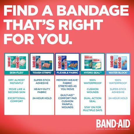 Band-Aid Fabric Bandages, Assorted - image 7 of 8