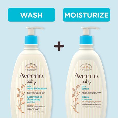 Aveeno Baby Gel pour cheveux et corps, Sans larmes, sans savon, sans parabènes, 532 ml - image 8 de 8