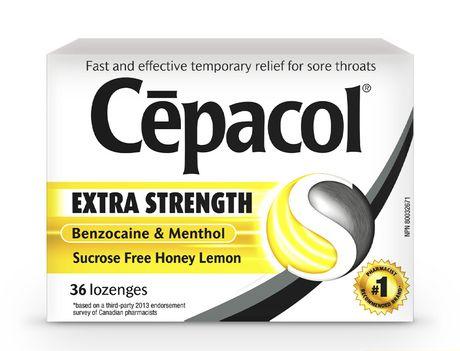 CépacolMD EXTRA-FORT sans saccharose au miel et au citron, paquet économique, 36pastilles contre le mal de gorge - image 2 de 5
