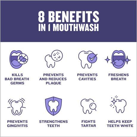 Listerine Total Care Zero Mild Mint Antiseptic Mouthwash, Alcohol Free - image 4 of 9