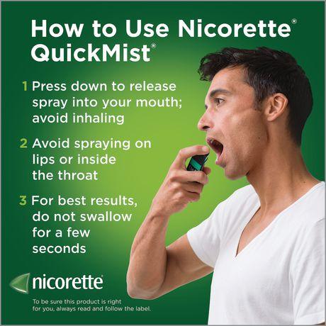 Vaporisateur Nicorette  VapoÉclair, Menthe fraîche, 1 mg,  Aide pour cesser de fumer et Aide de renoncement au tabac, 150 vaporisations - image 8 de 8