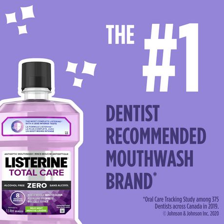 Listerine Total Care Zero Mild Mint Antiseptic Mouthwash, Alcohol Free - image 2 of 9