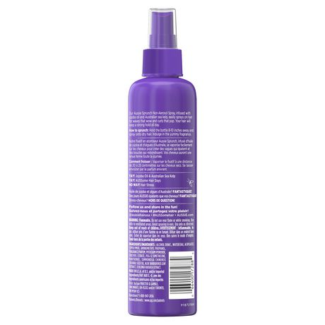 For Curly Hair - Aussie Sprunch Non-Aerosol Hairspray with Jojoba Oil & Sea Kelp - image 2 of 6