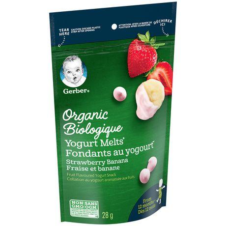 GERBER® Organic Yogurt MELTS® Strawberry Banana Toddler Snack - image 1 of 4