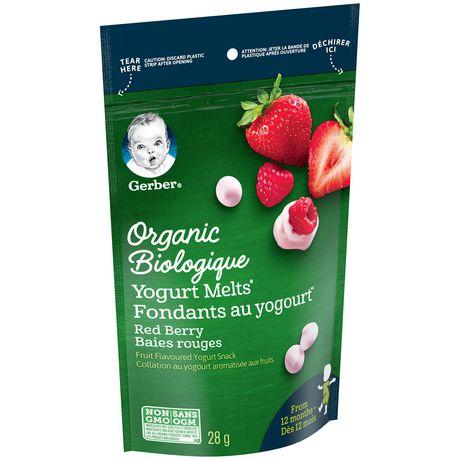 GERBER® Organic Yogurt MELTS® Red Berry Toddler Snack - image 1 of 4