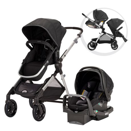Best Double Stroller - Evenflo Pivot Xpand Modular Travel System with SafeMax Infant Car Seat