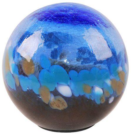 Boule solaire Hometrends en verre soufflé, 5po, bleu foncé - image 1 de 2