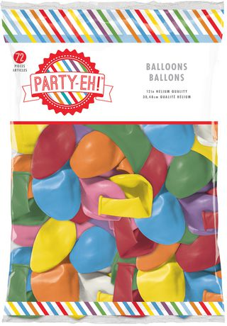 Party Eh 12 Helium Qulaity Latex Balloons Walmart Canada