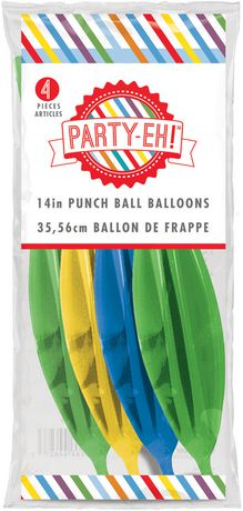 Party Eh 14 Latex Punch Ball Balloons Walmart Canada