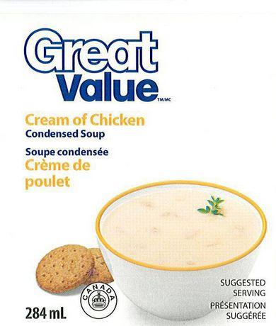 Soupe condensée à la crème de poulet de Great Value - image 1 de 1