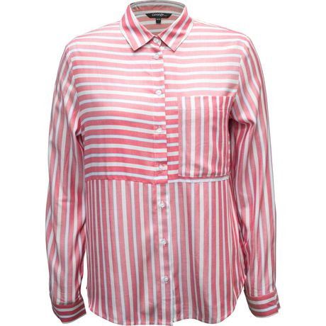 George Ladies Stripe long sleeve Blouse - image 1 of 1
