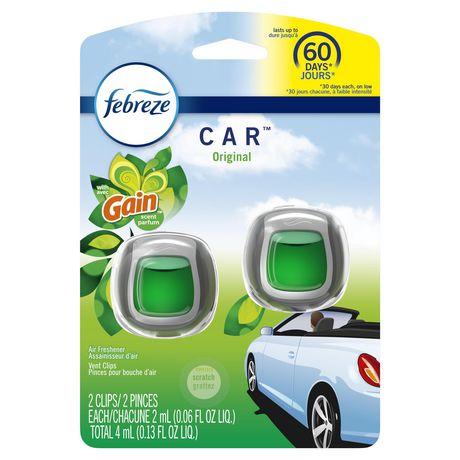 Febreze Car Air Freshener, Gain Original - image 1 of 6