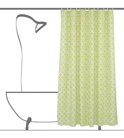 Geo Circles Fabric Shower Curtain Liner And Ring Set 14 Pieces