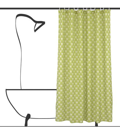Geo Trellis Shower Curtain Set
