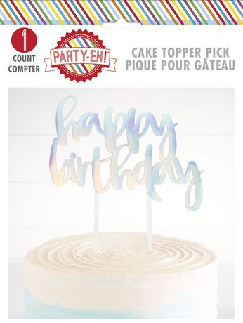 Happy Birthday Cake Topper Pick