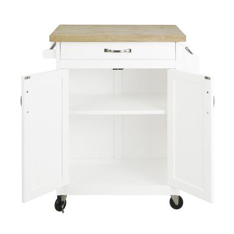 hometrends kitchen island cart walmart ca preston hollow kitchen cart white walmart com