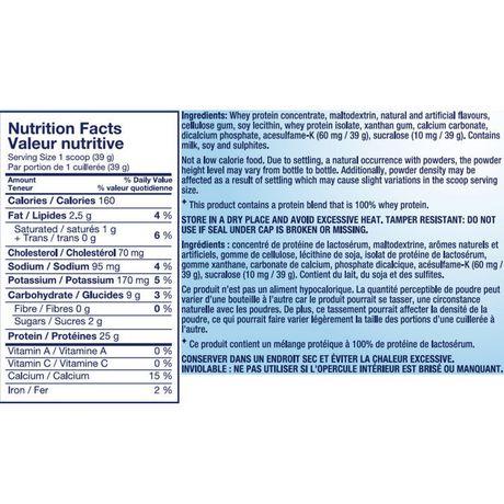 Pure Protein 100% Whey Vanilla Cream Protein Powder - image 2 of 2
