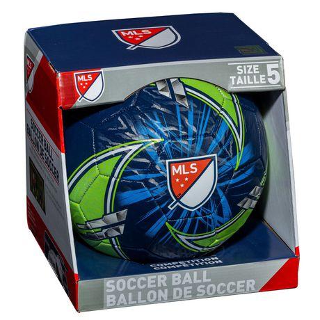 Ballon de soccer bleu et lime de la MLS par Franklin Sports - image 1 de 2
