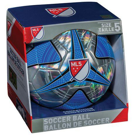 Ballon de soccer argent chromè et bleu de la MLS par Franklin Sports - image 1 de 2