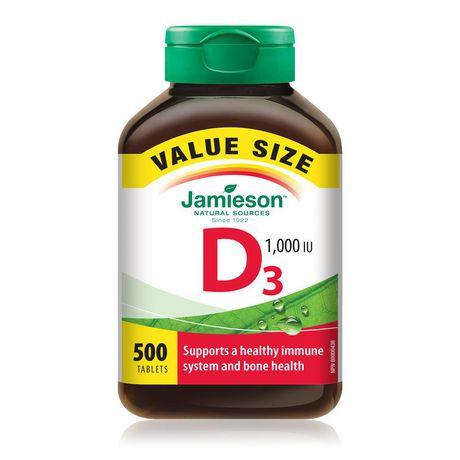 Jamieson Vitamin D 1,000 IU - Value Pack 500 Tablets