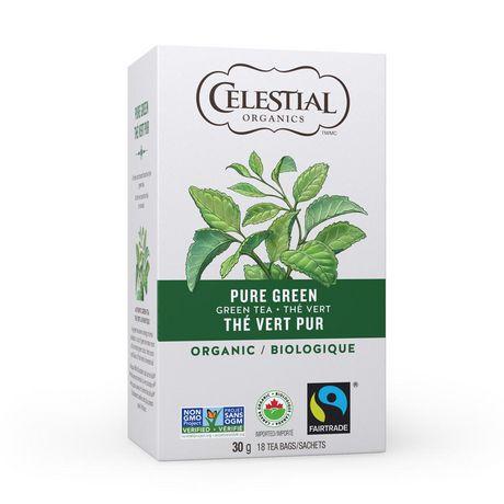 Celestial Seasonings Organic Pure Green Tea Bags - image 1 of 2