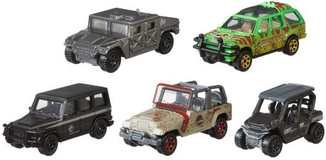 Match Box FMX40 Jurassic World Die Cast Pack of 5 Assorted