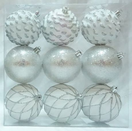 Holiday Time White Silver Shatterproof Ornaments Walmart Canada