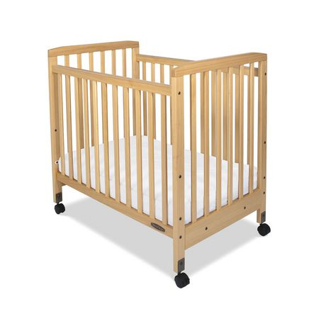 Child Craft Bristol Fixed Side Compact Slatted Crib With 2