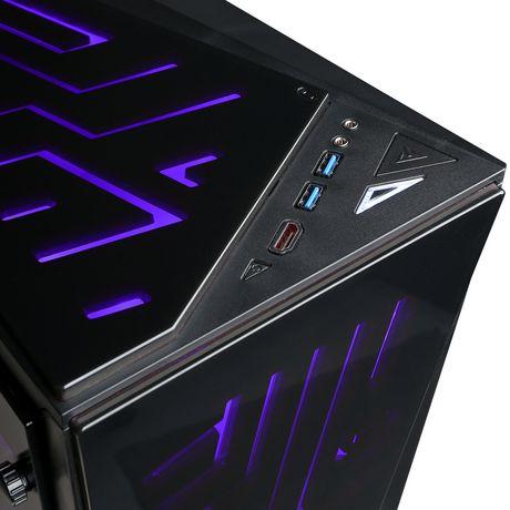 CyberPowerPC - Ordinateur de bureau Xtreme - Intel i5-8600K - 8 Go de mémoire - AMD Radeon RX 580 - Disque dur SSD de 120 Go + 1 To - image 4 de 6