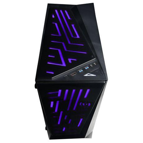 CyberPowerPC - Ordinateur de bureau Xtreme - Intel i5-8600K - 8 Go de mémoire - AMD Radeon RX 580 - Disque dur SSD de 120 Go + 1 To - image 3 de 6