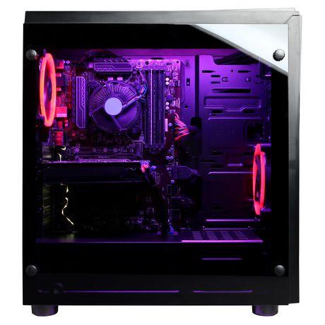 CyberPowerPC - Ordinateur de bureau Xtreme - Intel i5-8600K - 8 Go de mémoire - AMD Radeon RX 580 - Disque dur SSD de 120 Go + 1 To - image 6 de 6