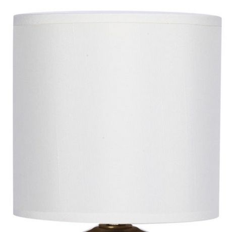 Cresswell Gold Plated Metal White Faux Silk Shade Table Lamp (2 Pack) - image 4 of 9