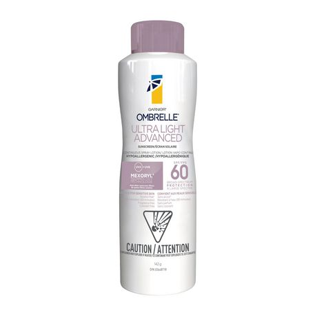 Garnier Ombrelle Sunscreen, Ultralight Advanced Spray, SPF 60, 142 GR - image 1 of 3