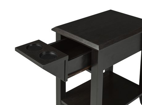 Brassex Inc Brassex Dark Cherry Telephone Stand with Drawer - image 2 of 2
