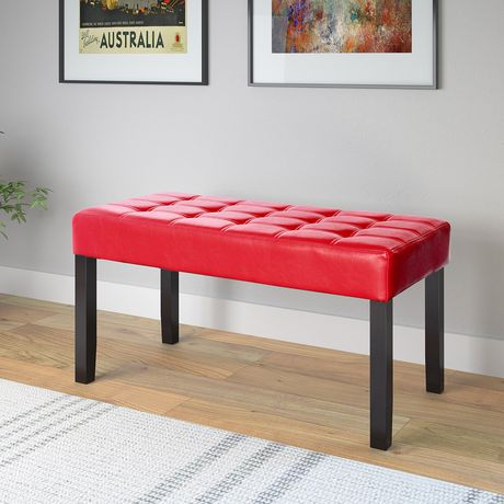 CorLiving California 24 Panel Tufted Leatherettte Bench - image 3 of 4