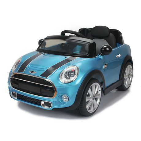petite voiture lectrique mini cooper de daymak bleu walmart canada. Black Bedroom Furniture Sets. Home Design Ideas