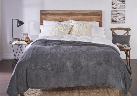 Couverture chauffante en micro peluche pour grand lit de sunbeammd walmart canada - Couverture chauffante lit ...