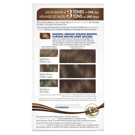 Nice n Easy Permanent Color - R5G 129G Rich Medium Golden by Clairol for Women - 1 Application Hair Color - image 2 of 2