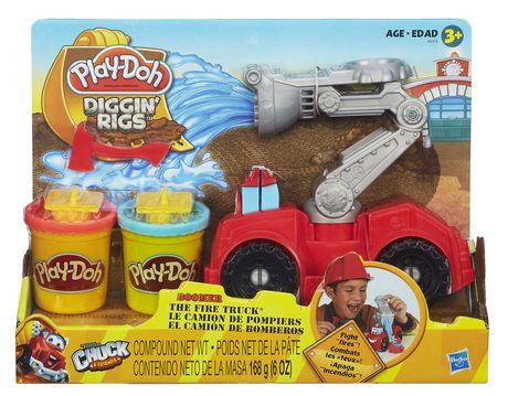 Play Doh Diggin Rigs Boomer The Fire Truck Walmart Canada