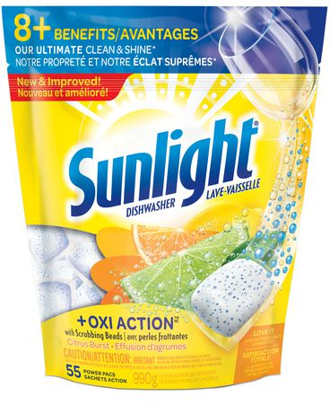 Sunlight + Oxi Action Dishwashing Detergent Citrus Burst