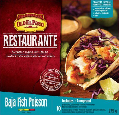 Old El Paso Restaurante Baja Fish Taco Kit Walmart Canada