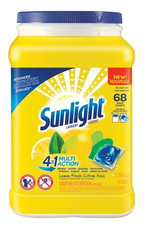 Sunlight Lemon Fresh Laundry Pacs   Walmart Canada