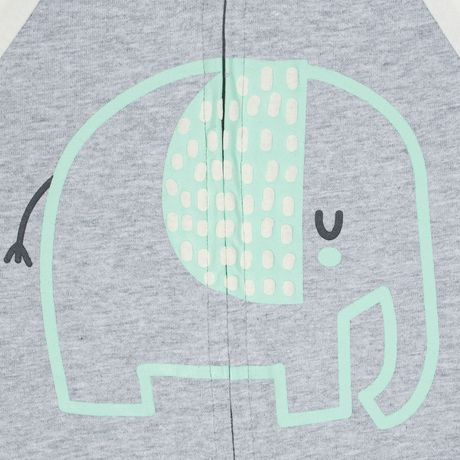 Gerber® Baby Neutral 2-Pack Organic Sleep 'n Play- Grey - image 4 of 5