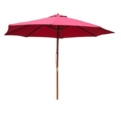 Outsunny ⌀10 X 8 2 H Bamboo Round Patio Umbrella