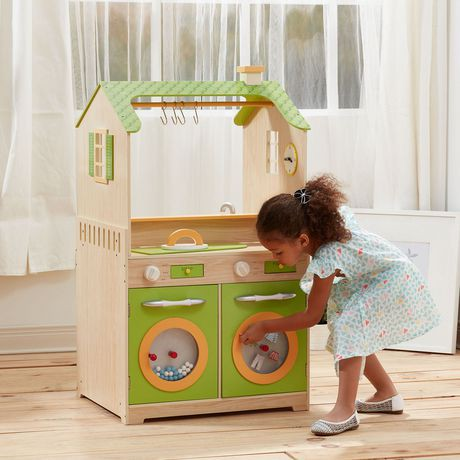 teamson kids green play kitchen with dual washers set walmart canada. Black Bedroom Furniture Sets. Home Design Ideas