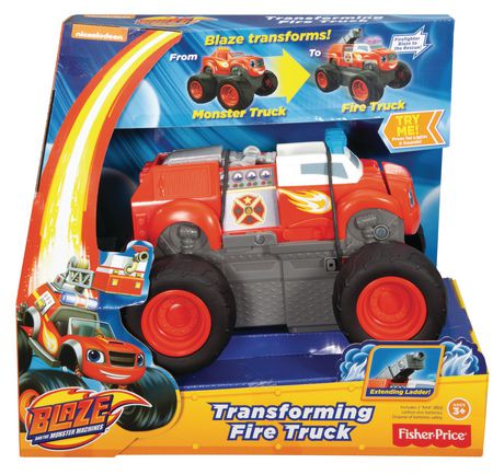 fisher price blaze transforming fire truck walmart canada. Black Bedroom Furniture Sets. Home Design Ideas