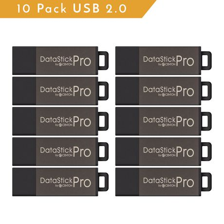 Centon Valuepack USB 2.0 Datastick PRO (grey), 16GB 10 Pack - image 1 of 1