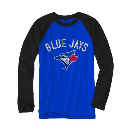 new style 95562 91e9e Toronto Blue Jays Blue Jays Mens Jays Arch Long Sleeves Shirt.